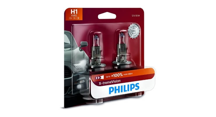 Philips Automotive Lighting H1 X-tremeVision Upgrade Headlight Bulb